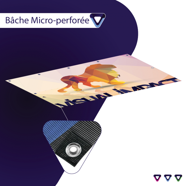 bache mesh microperforée visual impact